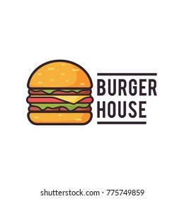 Burger Logo, Fast food logo