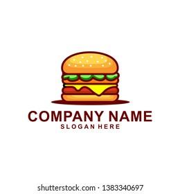 Burger Logo Illustration, Fast food logo - Vector