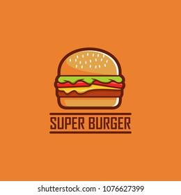 burger logo vector