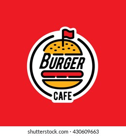 Burger logo/sticker/emblem