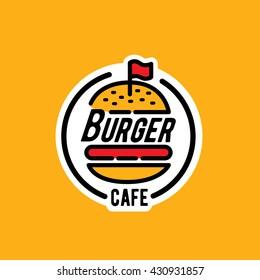Burger logo/sticker/emblem