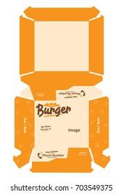 Burger Packaging Template Design