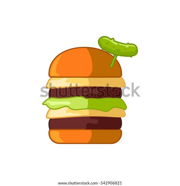burger with pepper icon illustration isolated vector sign symbol