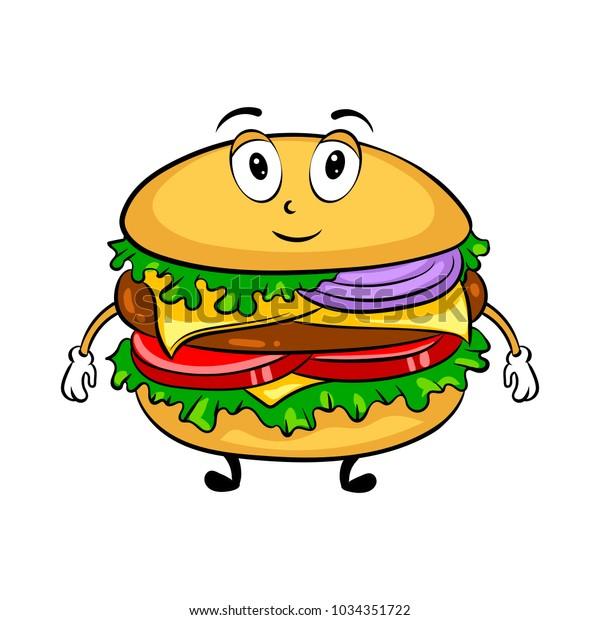 burger sandwich cartoon character pop art stock vector royalty free 1034351722 https www shutterstock com image vector burger sandwich cartoon character pop art 1034351722