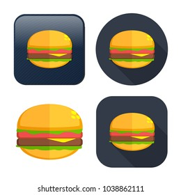 burger sandwich icon - fast food icon - american meal - unhealthy fastfood, restaurant icon