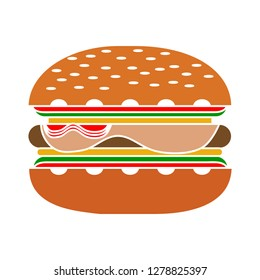 burger sandwich icon -food burger icon-drink Symbol-cheeseburger Sign-fastfood Illustration-meal Icon-restaurant Vector-snack Isolated-hamburger Sign