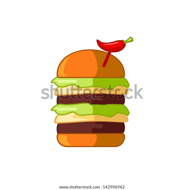 burger with sausage icon illustration isolated vector sign symbol