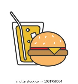 burger juice logos images stock photos vectors shutterstock https www shutterstock com image vector burger soda color icon fast food 1081958054