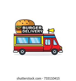 Burger truck vector illustration