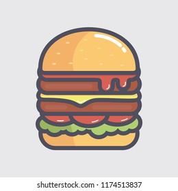 Burger vector illustration