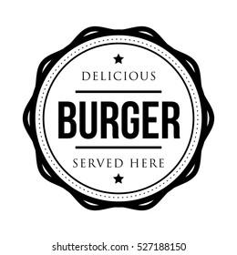 Burger vintage stamp logo