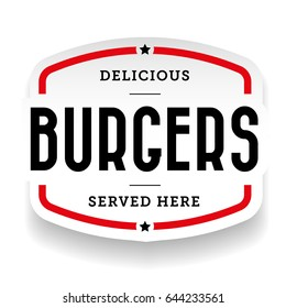 Burger vintage stamp sticker vector