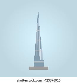 burj khalifa icon vector, solid logo illustration