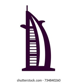 burj-al-arab icon. building. skyscraper vector