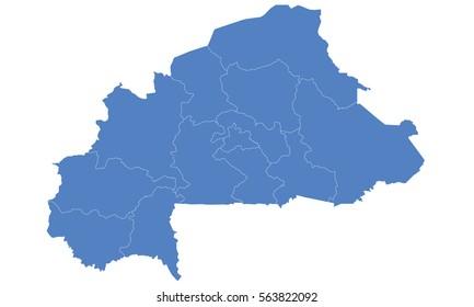 Burkina Faso Map Images Stock Photos Vectors Shutterstock