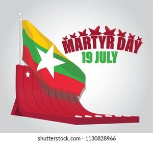 Burma Martyr Day, Myanmar, Asia