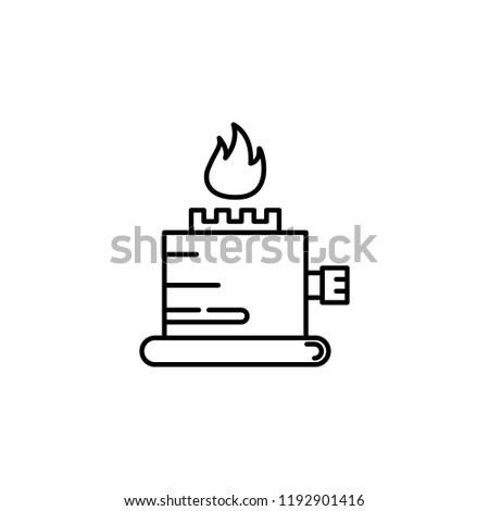Burning Candle Icon Element Temperature Control Stock Vector