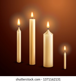 Burning candles. Vector.