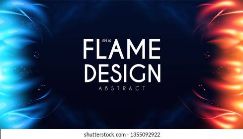 Burning Fire Abstract Background. Flame Power. Light Effect.