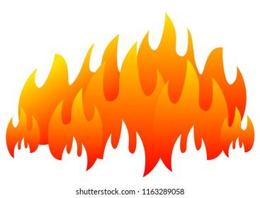 burning fire flame banner horizontal for web design vector eps 10