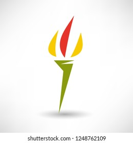 burning flame on the torch icon
