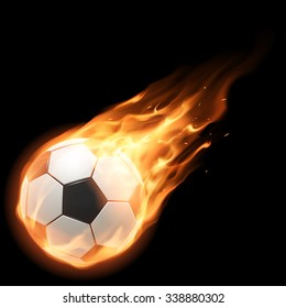Burning football ball