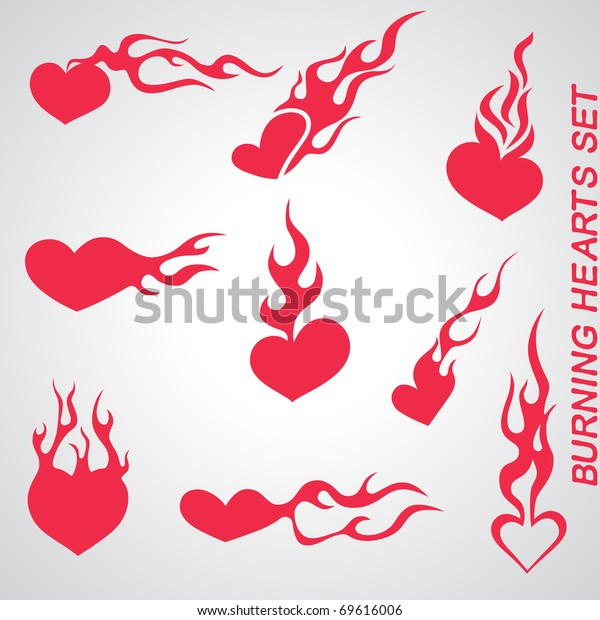 burning hearts set