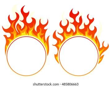 Burning round frame