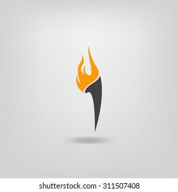 Burning torch icon