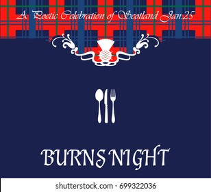 Burns night card. Vector illustration.