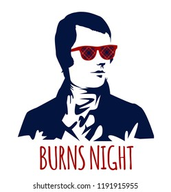 Burns night supper card,