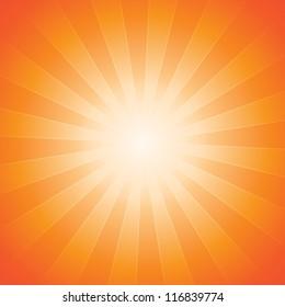 Burnt Orange Sunburst Background