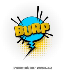 burp parp sound hand drawn pictures effects. Template comics speech bubble halftone dot background. Pop art style. Comic dialog cloud, space text pop-art. Creative idea conversation sketch explosion.
