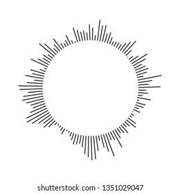 Burst, beams, rays geometric design circles. Vector illustration isolated