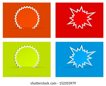 burst star paper abstract background