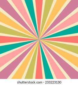 Burst vector background in retro style. Vector illustration for your design. Abstract wallpaper.