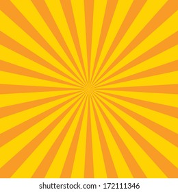 Burst vector background - Yellow