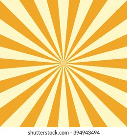 Burst vector background - Yellow color. Retro style.
