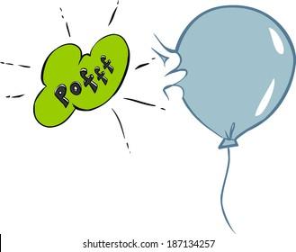 bursting ballon