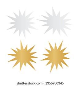 Bursting speech star set. Starburst isolated icons set