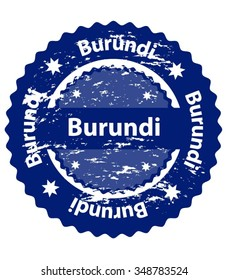 Burundi Country Grunge Stamp