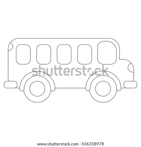 Bus Be Colored Coloring Book Educate Stock Vector Royalty Free