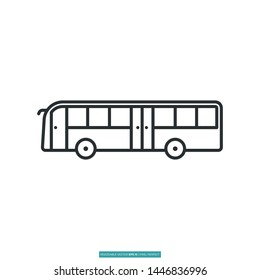 Bus car icon vector illustration logo template for website or mobile app