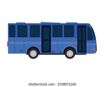 bus car vehicle transport icon vector illustration design