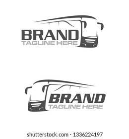 bus city line art logo template