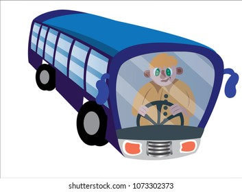 A bus driver active on the wheels