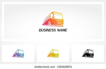 Bus Fast Express Transportation Logo