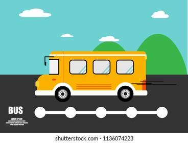 bus flat vector. infographics