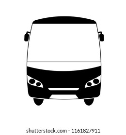 bus from the front vector