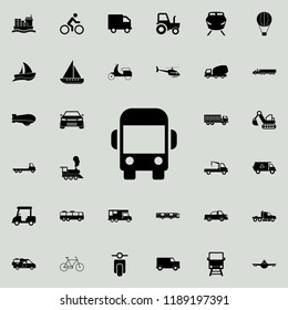 bus front view icon. transport icons universal set for web and mobile